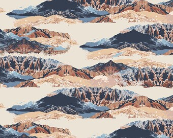 Mountain Mirror - Heritage by April Rhodes - Art Gallery rayon fabric - 1/2 yard or more
