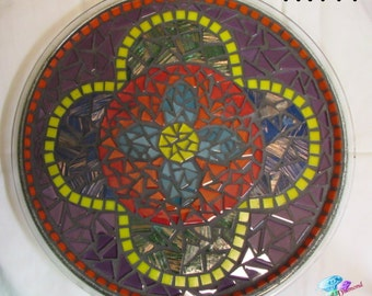 Pretty in Colors  Mosaic Tray Handmade Mosaic Great for your home TR111