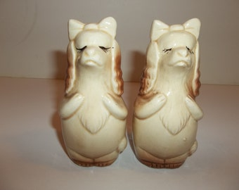 Vintage Dogs Salt And Pepper Shakers