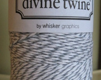 Divine Twine Oyster Grey Bakers Twine 1 Full Spool  240 Yards Made in USA