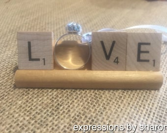 Scrabble Ornament - Love