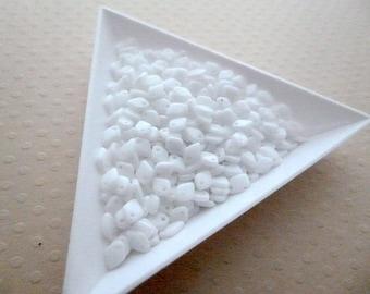 Set of 5 g Dragon Scale Bead 1, 5x5mm-Chalk White - DSB5 1482
