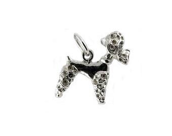 Sterling Silver Poodle Dog Charm For Bracelets