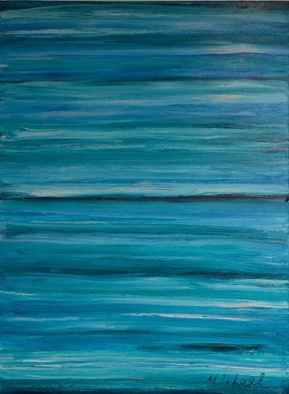"""Print of """"Turquoise Paradise"""" By Bruce Mishell (2008) 30"""" x 40"""""""