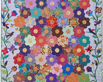 The Honey Flow quilt pattern.