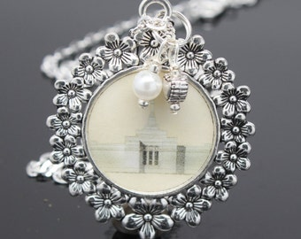 Palmyra  Temple necklace, pendant, key chain or locket. FREE SHIPPING!!