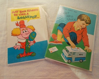 Vintage NOS Get Well Greeting Cards