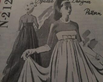 SALE Vintage 1960's Spadea N-2126 Jo Copeland Evening Dress Sewing Pattern, Size 10 Bust 34
