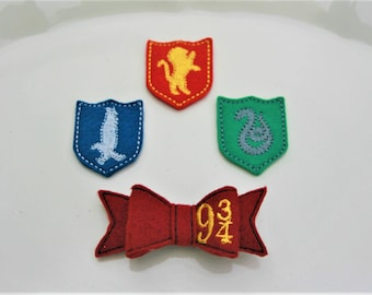Wonderful Wizard Clippies, Your Choice of Harry Potter Theme Hair Clip