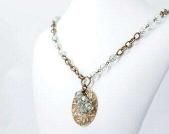 Antique Flowers - Pendant Necklace