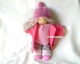 Waldorf fairy doll 12inch / 30cm for children and toddler, Steiner doll-בובת וולדורף