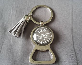 "key ring bottle opener ""elected Grandpa of the year"" by lolaclarabijoux"