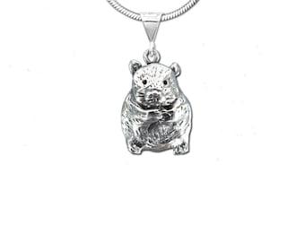 Sterling Silver Hamster Pendant