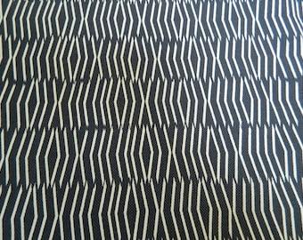 Designer Abstract Indigo -Decorative Lumbar Pillow Cover / Linen Cotton Blend Fabric