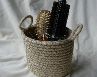 Crochet storage basket, rope basket
