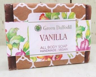 Vanilla Oatmeal Bar of Soap - Green Daffodil
