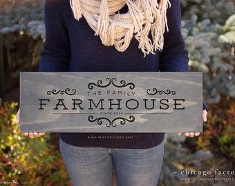 Farmhouse Sign, Custom Wood Signs, Farmhouse Decor, Gift For Mom, Rustic Home Decor, Family Established Sign, Wedding Gift (GP1078)