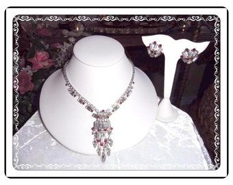 Juliana Necklace Demi Verified Winter Ice Rhinestones with Red Accents D&E Demi-980a-040111000
