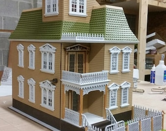 Half Inch Scale, The Blair Estate, 1:24 Scale Victorian Wooden Dollhouse Kit, SHIPS WORLDWIDE