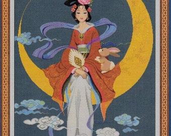 PINN Collection Cross Stitch Pattern. Chinese Moon Gods. 10710.