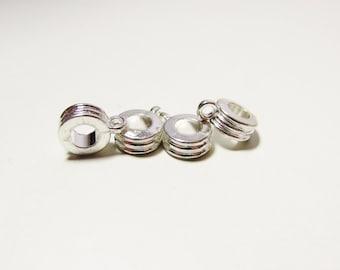 D-02353 - 2 Charm Hanger silver color