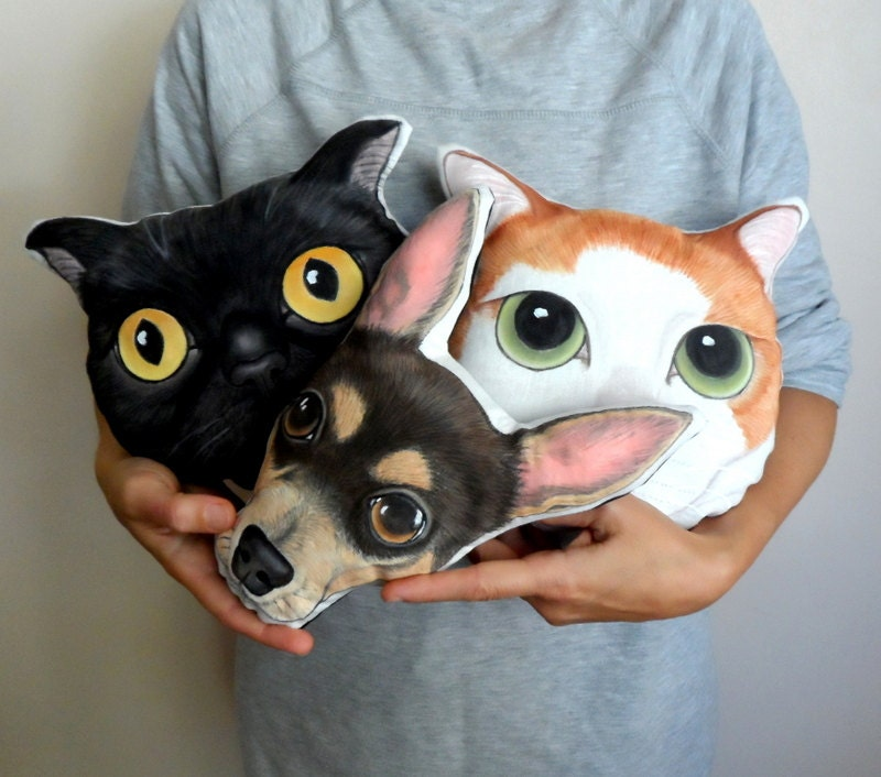 Custom Pet Pillow Plush, Personalized gift for pet lovers, custom cat pillow, custom dog pillow,Pet gifts, Father's day gift under 75
