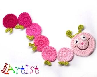 Crochet Applique Caterpillar