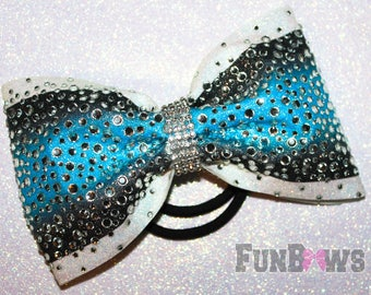 Stunning X-Large Ombre Rhinestone Allstar Cheer bow by FunBows !!