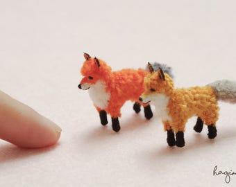 Miniature Fox , Tiny crochet Fox, micro crochet Fox, amigurumi tiny crochet fox