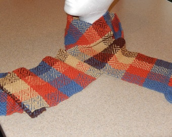 "6.5"" x 62"" Hand Woven Wool Scarf"