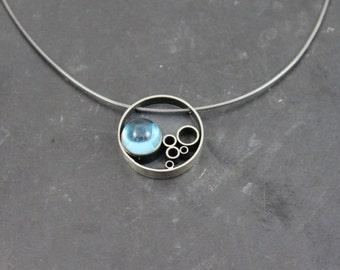 Bubble Blue Topaz Pendant