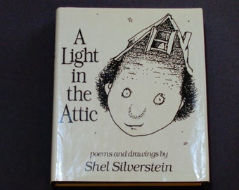 Shel Silverstein - A Light in the Attic - Poems and Drawings - Hardcover - First Edition Harper & Row 1981  Vintage Children's Poetry Book