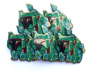 BULK DEAL Bulba Fett  Glitter geek mashup collectors hat pin 5-pack