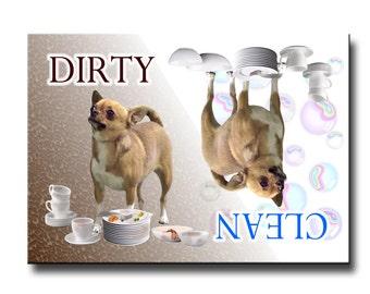 Chihuahua Clean Dirty Dishwasher Magnet No 1