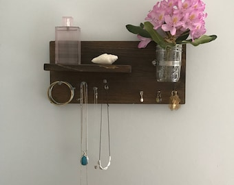 Jewelry organizer // Wall jewelry organization // Necklace holder