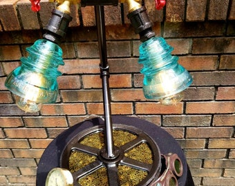 Industrial Steampunk Insulator Table Lamp