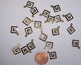 SET of 20 charms spiral jewelry
