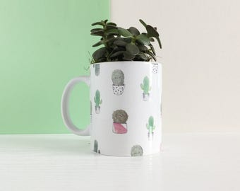 Cactus Mini Planter - Mini Succulent Planter - Cactus Planter Mug - Cactus Mug Plant Pot - Succulent Pot - Tropical Home Decor