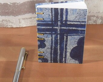 Notebook A7 Blue Cross//gift//addresses//entries//Notes