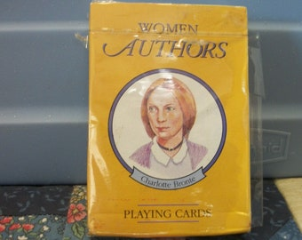 Women Authors Playing Card Game  52 cards  13 authors
