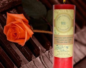 Rose Pillar Candle