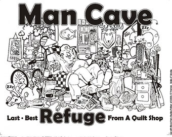 Man Cave Fabric Panel