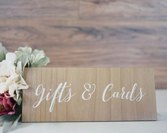 Gifts & Cards Display - Laser Engraved - Wood