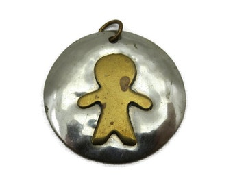 Modern Pendant - Mixed Metals, Louis Booth