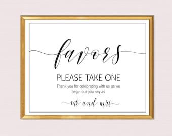 Wedding Favor Sign, Favors Sign, Wedding Favor Printable, Wedding Sign, Wedding Printable, Template, PDF Instant Download B22