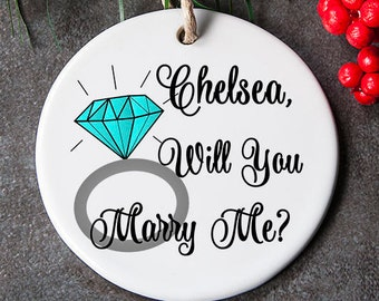 Will You Marry Me Ornament, Christmas Proposal Ornament, Unique Proposal, Marry Me Christmas Ornaments, Holiday proposal, Holiday Engagement