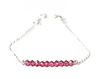 Bracelet Silver 925 basic'chic and pink Swarovski pearls