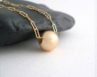 Minimalist Bead Necklace, Dainty Gold Necklace, Gift For Her, Delicate Layered Necklace, Gift For Mom, Collier Or
