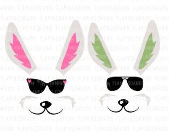Easter bag svg bunny face svg, Easter svg, rabbit face svg, sunglasses svg, svg easter files Easter shirt svg bunny svg files Easter clipart