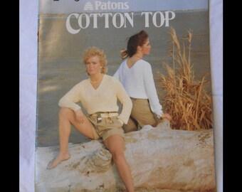Knitting, Knitting Patterns, Knitting Designs, Susan Bates- Patons 1983 Cotton Top Book No. 17635